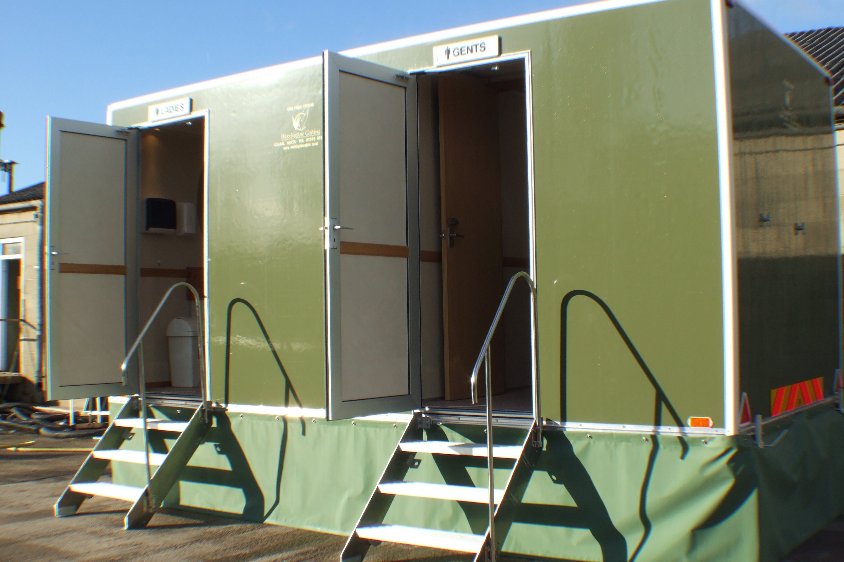 Hire portable toilets, cabins and showers