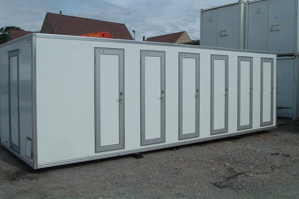 Buy portable toilets, showers and cabins